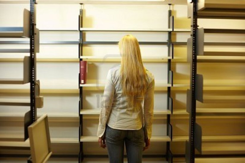 A clean slate in the form of empty shelves?