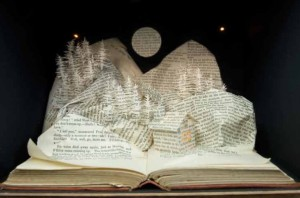 Putting a love of printed books to one side, it's not difficult to create art by hacking at some pages!
