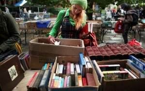 Rummaging market and car boot sales promotes reusing while saving money too.