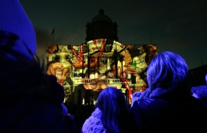 The Made in Hull light display.  Photo credits: On Magazine
