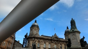 Blade, set against the Maritime Museum in Queen Victoria Square, Hull